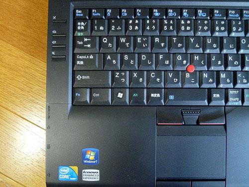 L412のキーボード左