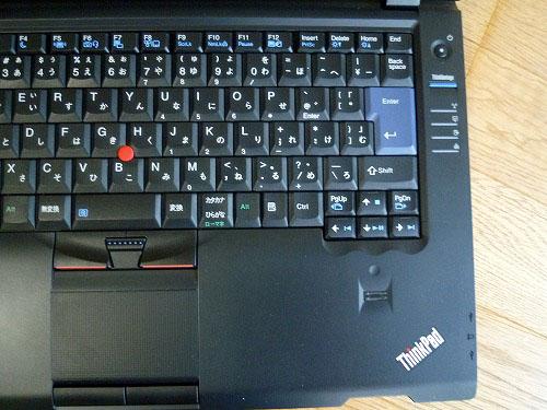 L412のキーボード右