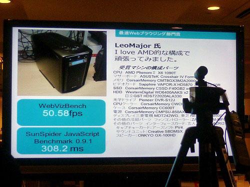 最速Webブラウジング部門賞