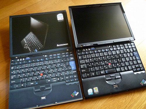 X60とX60の画面とキーボード比較