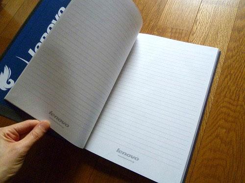 ノートでした