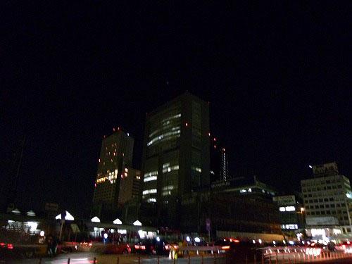 節電中の新宿