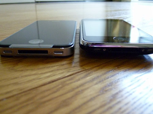 iPhone4とiPhone側面