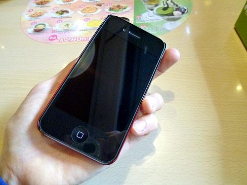 フィルムをはがしたiPhone 4