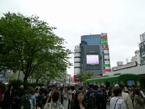 渋谷 ハチ公付近
