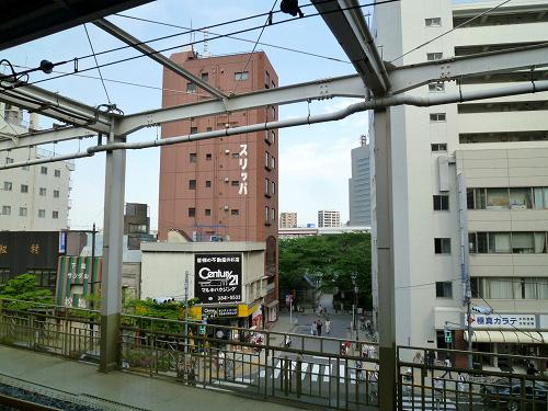 東武 浅草駅からの浅草の風景