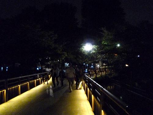 ライトアップされた七井橋