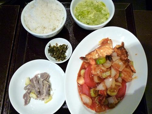 大海老・タラバガニのチリソース煮定食