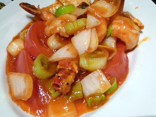 大海老・タラバガニのチリソース煮