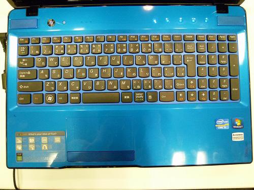 Z570コーラルブルー キーボード