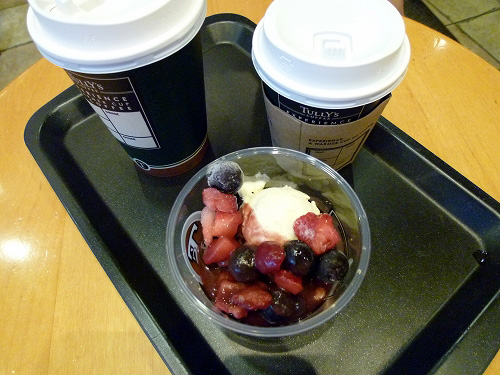 タリーズのコーヒーとデザート