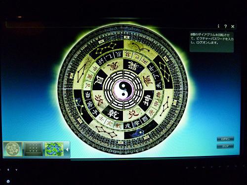 ピクチャーパスワード入力画面
