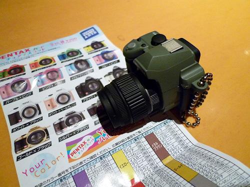 PENTAXのカメラのミニチュア