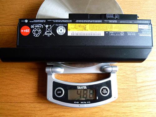 9セルバッテリの重量