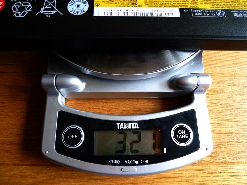 6セルバッテリの重量