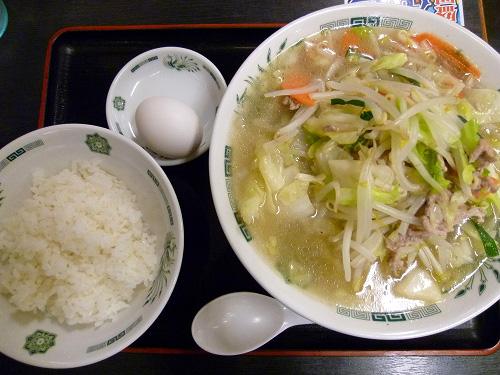 野菜たっぷりタンメンのセット