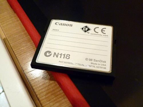 8MBのcompact flash