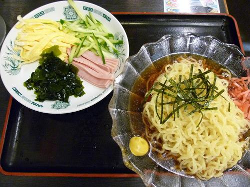 黒酢醤油冷やし麺