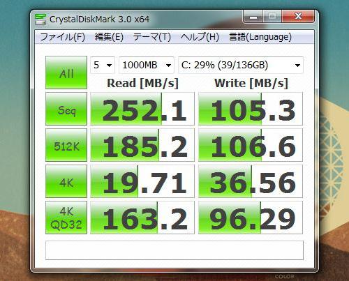 dv7-6000 CrystalDiskMark