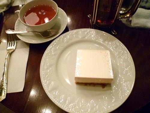 レアチーズケーキのセット