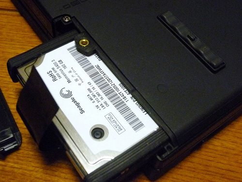 160GBの旧HDD