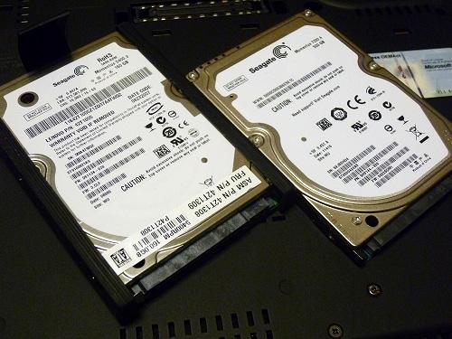 旧HDDと新HDD