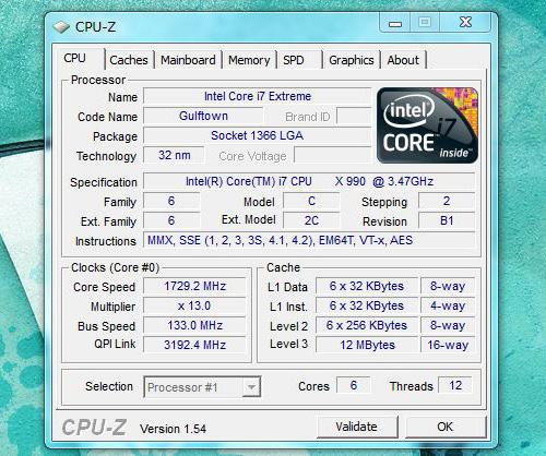 h8-1090jp CPU-Zの情報