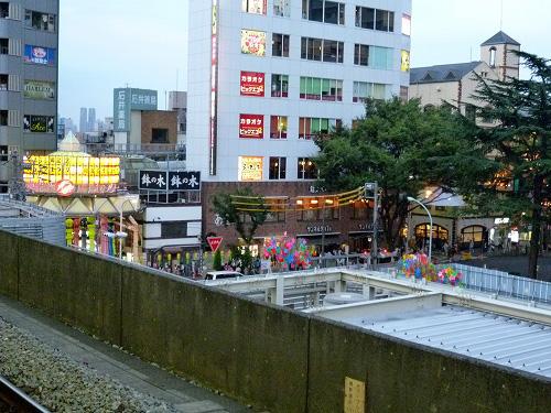 阿佐ヶ谷駅から見た商店街