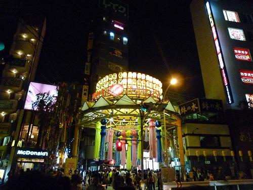 夜の阿佐ヶ谷の七夕祭
