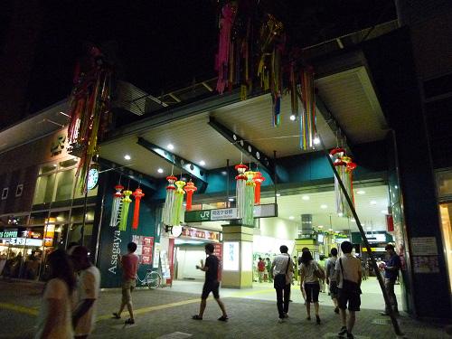 夜の阿佐ヶ谷駅