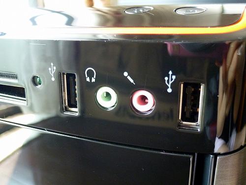 USBやオーディオ端子類
