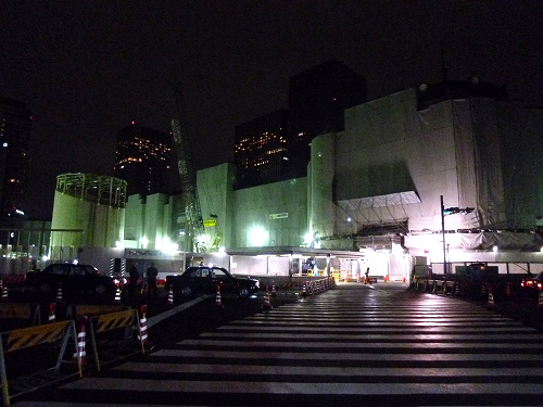 工事中の東京駅