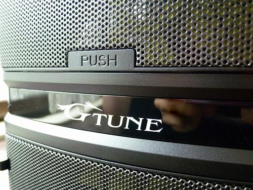 G-TuneのロゴとPUSHボタン