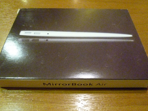 MirrorBook Airの箱