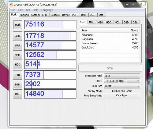 g6-1100 CrystalMark 2004R3