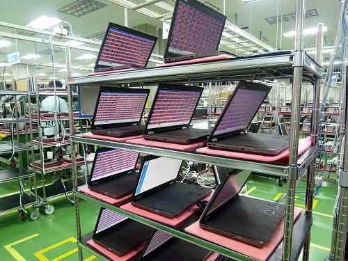 昭島工場 試験中のマシン