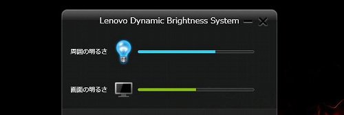 Lenovo Dynamic Brightness システム