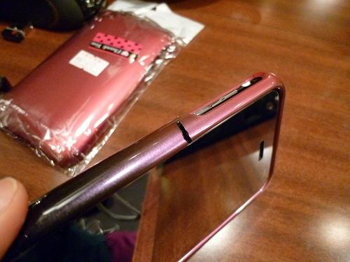 壊れたiPhone 3Gのケース